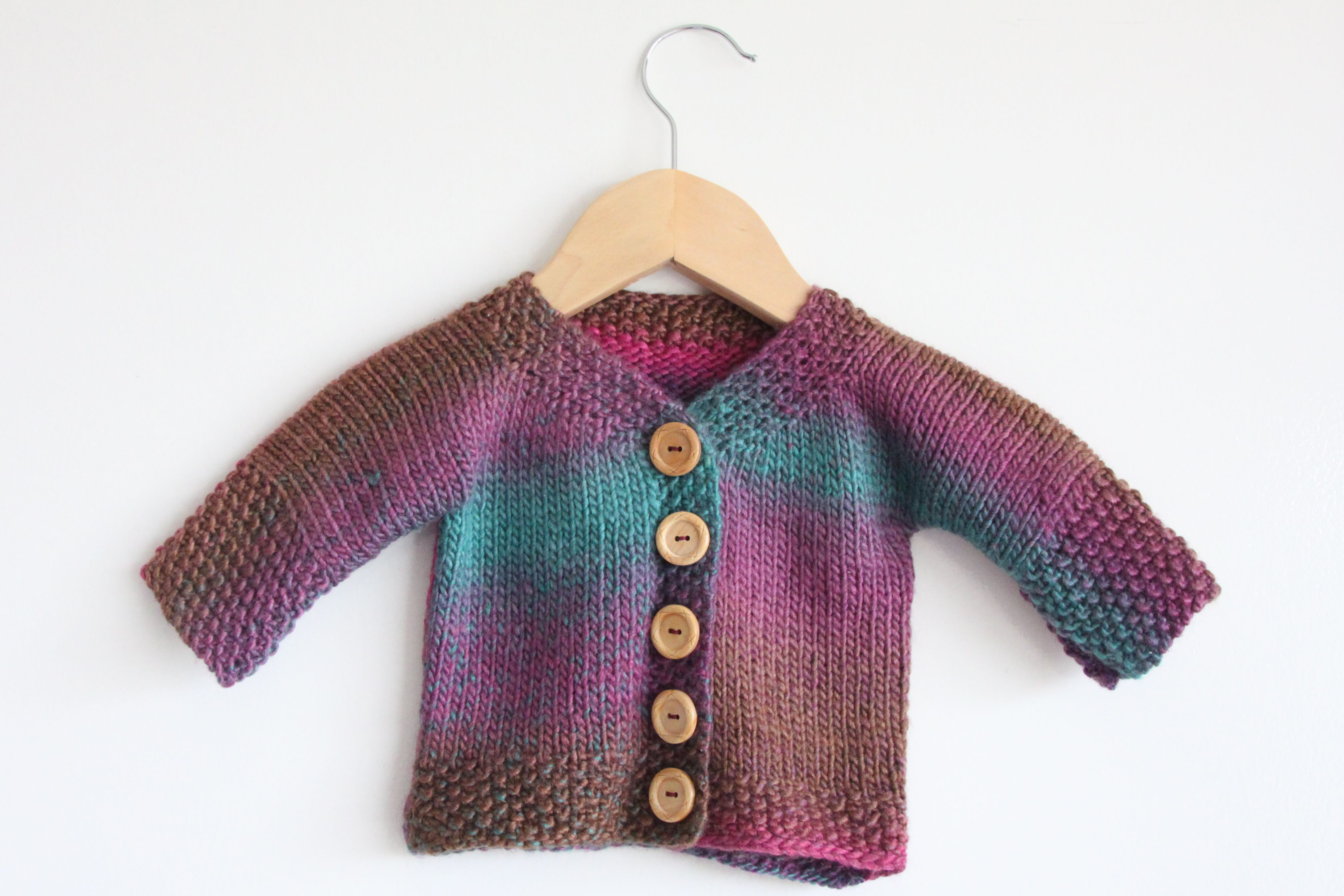 Easy baby cardigan | ruth plus two