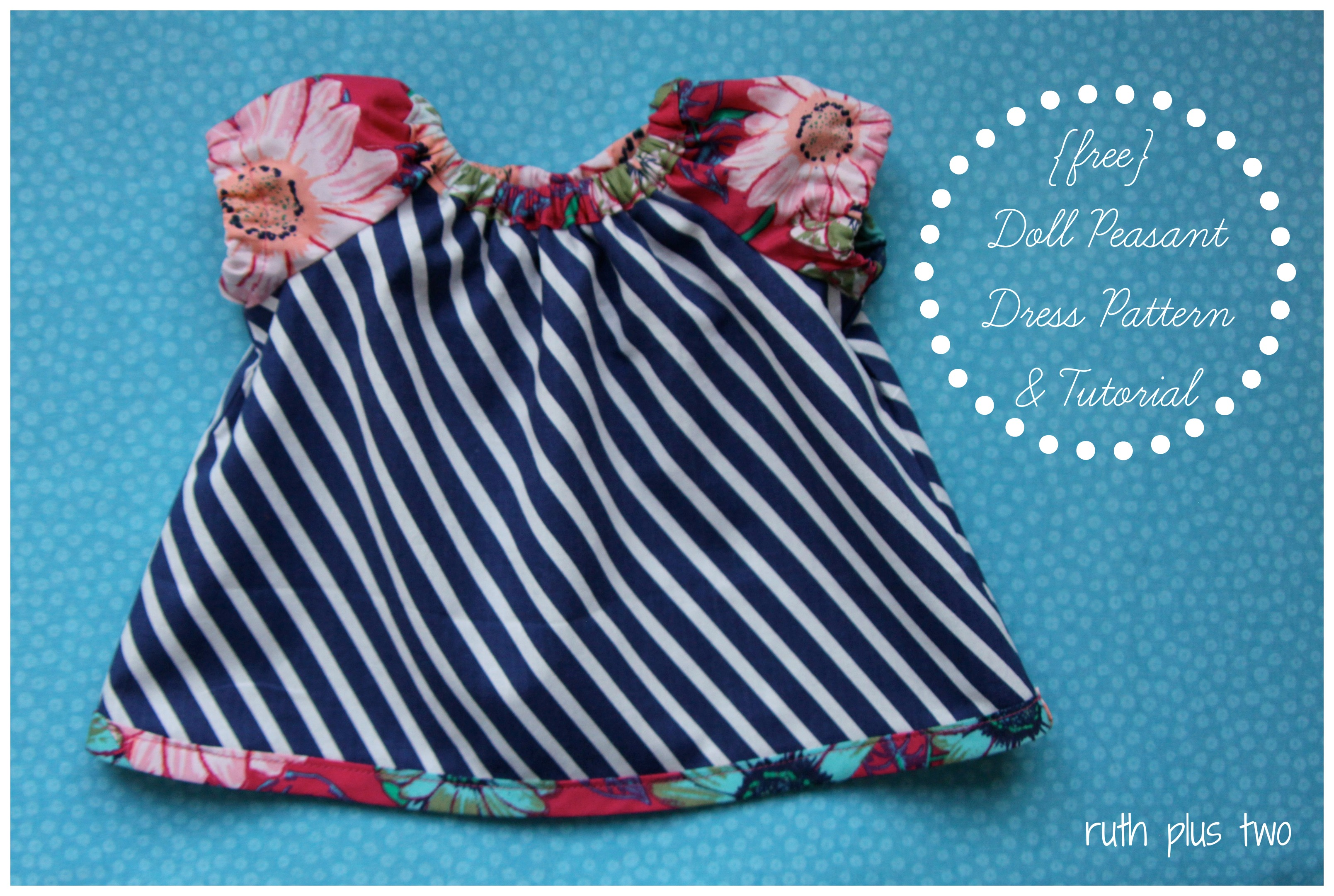 Doll Peasant Dress: {free} pattern and tutorial | ruth plus two