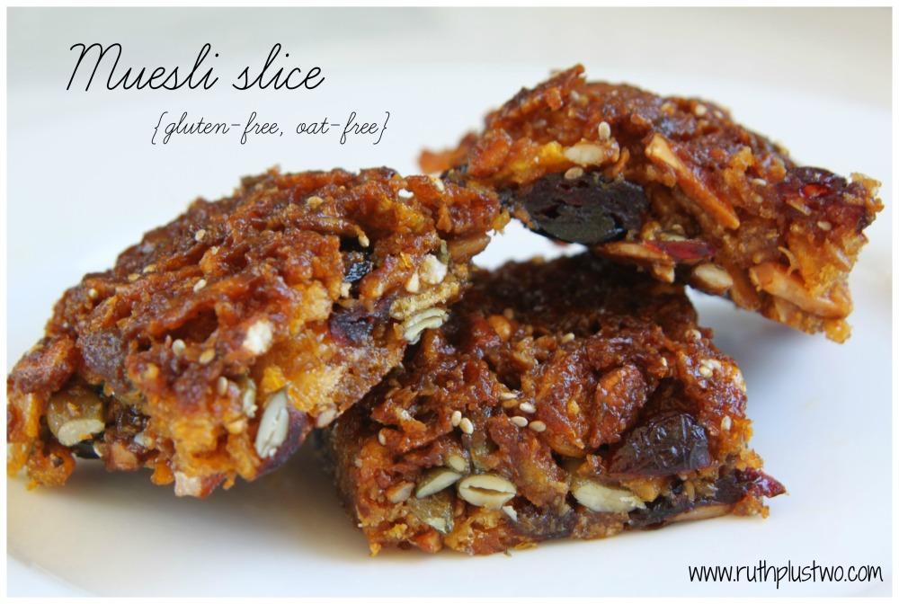 {Gluten-free & oat-free} muesli slice (4/4)
