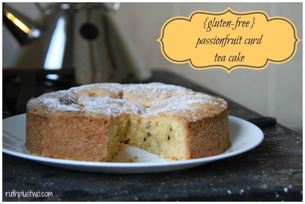 {Gluten-free} passionfruit curd tea cake (1/6)