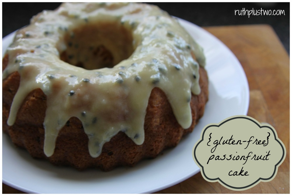 {Gluten-free} passionfruit cake (1/6)