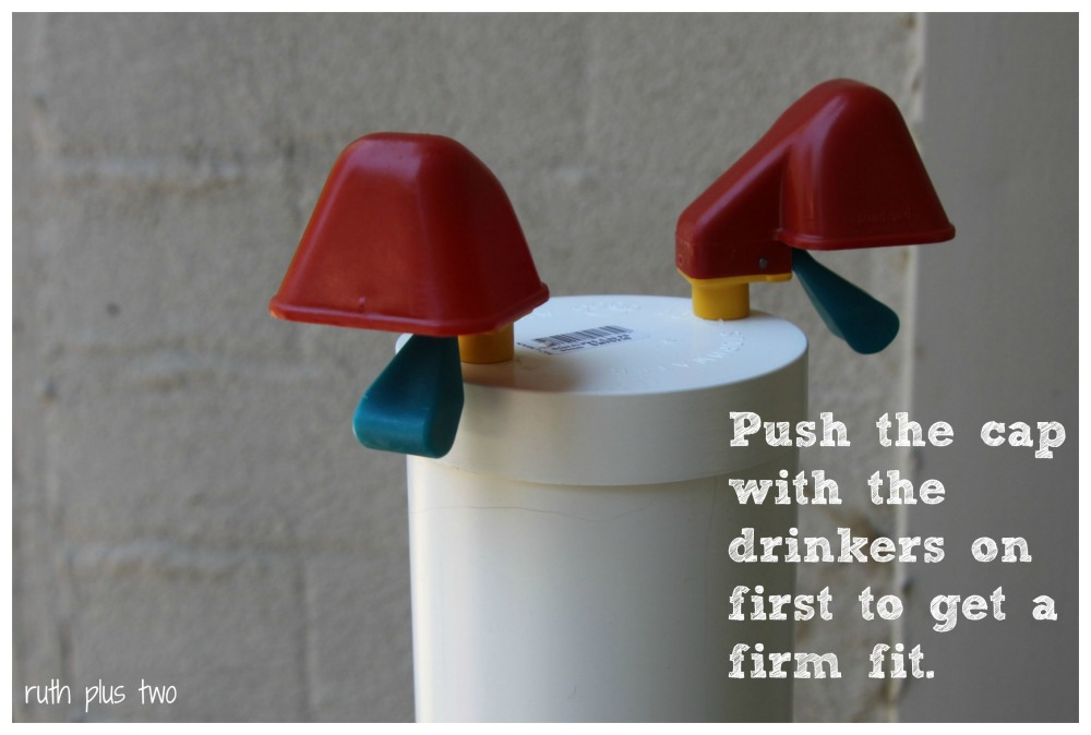 How to make your own drinker for chickens - for under $30 (4/6)