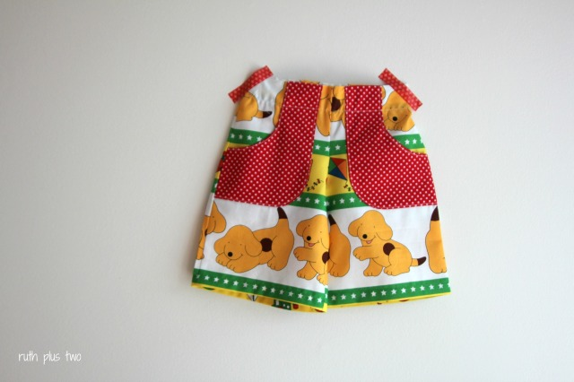 kid short flat front pockets spot puppy