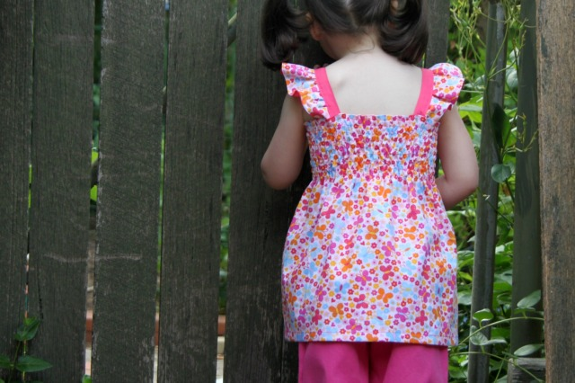boo shirred back view flutters tunic length